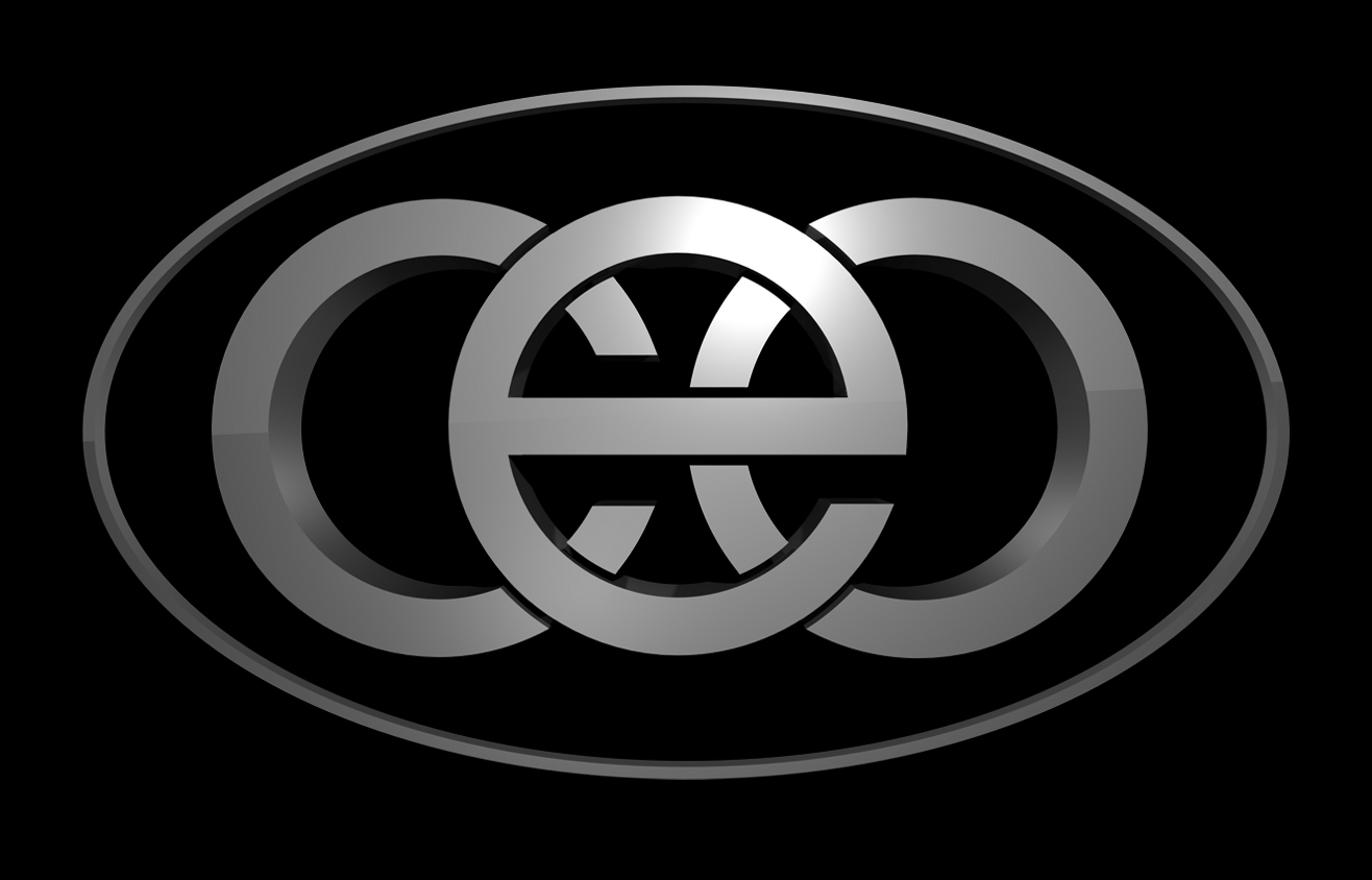 3D CEO logo on black